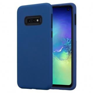 Cadorabo Hülle für Samsung Galaxy S10 in DUNKEL BLAU Hybrid Handyhülle mit TPU Silikon Innenseite und 2teiliger Kunststoff Außenseite Schutzhülle Hybrid Hardcase Back Case