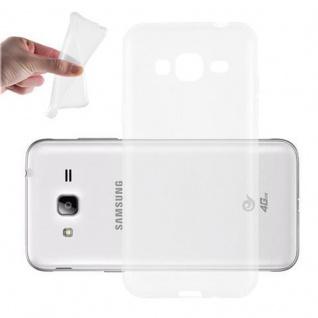 Cadorabo Hülle für Samsung Galaxy J3 2016 in VOLL TRANSPARENT - Handyhülle aus flexiblem TPU Silikon - Silikonhülle Schutzhülle Ultra Slim Soft Back Cover Case Bumper