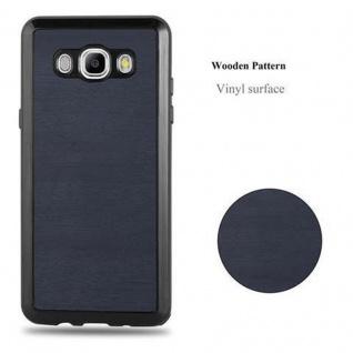 Cadorabo Hülle für Samsung Galaxy J5 2016 in WOODEN BLAU - Handyhülle aus flexiblem TPU Silikon - Silikonhülle Schutzhülle Ultra Slim Soft Back Cover Case Bumper - Vorschau 5