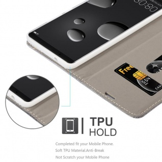 Cadorabo Hülle für Huawei MATE 10 PRO in HELL GRAU BRAUN - Handyhülle mit Magnetverschluss, Standfunktion und Kartenfach - Case Cover Schutzhülle Etui Tasche Book Klapp Style - Vorschau 2