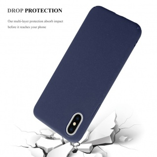 Cadorabo Hülle für Apple iPhone X / XS in FROSTY BLAU - Hardcase Handyhülle aus Plastik gegen Kratzer und Stöße - Schutzhülle Bumper Ultra Slim Back Case Hard Cover - Vorschau 4