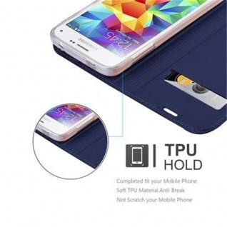 Cadorabo Hülle für Samsung Galaxy S5 MINI / S5 MINI DUOS in CLASSY DUNKEL BLAU - Handyhülle mit Magnetverschluss, Standfunktion und Kartenfach - Case Cover Schutzhülle Etui Tasche Book Klapp Style - Vorschau 2