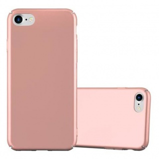 Cadorabo Hülle für Apple iPhone 7 / iPhone 7S / iPhone 8 in METALL ROSE GOLD ? Hardcase Handyhülle aus Plastik gegen Kratzer und Stöße ? Schutzhülle Bumper Ultra Slim Back Case Hard Cover