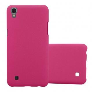 Cadorabo Hülle für LG X Power in FROSTY PINK - Hardcase Handyhülle aus Plastik gegen Kratzer und Stöße - Schutzhülle Bumper Ultra Slim Back Case Hard Cover