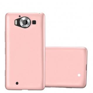 Cadorabo Hülle für Nokia Lumia 950 in METALLIC ROSÉ GOLD - Handyhülle aus flexiblem TPU Silikon - Silikonhülle Schutzhülle Ultra Slim Soft Back Cover Case Bumper