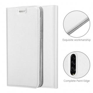 Cadorabo Hülle für Samsung Galaxy A90 5G in CLASSY SILBER - Handyhülle mit Magnetverschluss, Standfunktion und Kartenfach - Case Cover Schutzhülle Etui Tasche Book Klapp Style - Vorschau 5