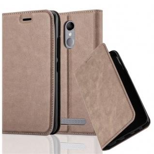 Cadorabo Hülle für ZTE BLADE A602 in KAFFEE BRAUN - Handyhülle mit Magnetverschluss, Standfunktion und Kartenfach - Case Cover Schutzhülle Etui Tasche Book Klapp Style