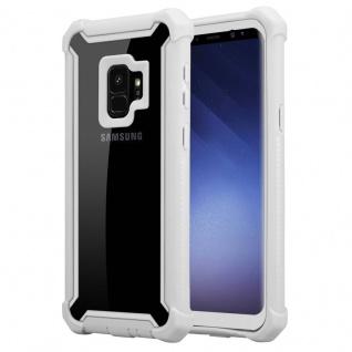 Cadorabo Hülle für Samsung Galaxy S9 in BIRKEN GRAU - 2-in-1 Handyhülle mit TPU Silikon-Rand und Acryl-Glas-Rücken - Schutzhülle Hybrid Hardcase Back Case