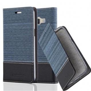 Cadorabo Hülle für Samsung Galaxy A3 2015 in DUNKEL BLAU SCHWARZ - Handyhülle mit Magnetverschluss, Standfunktion und Kartenfach - Case Cover Schutzhülle Etui Tasche Book Klapp Style