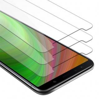 Cadorabo 3x Panzer Folie für Samsung Galaxy A7 2018 - Schutzfolie in KRISTALL KLAR - 3er Pack Gehärtetes (Tempered) Display-Schutzglas in 9H Härte mit 3D Touch Kompatibilität
