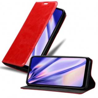 Cadorabo Hülle für Xiaomi RedMi 7 in APFEL ROT - Handyhülle mit Magnetverschluss, Standfunktion und Kartenfach - Case Cover Schutzhülle Etui Tasche Book Klapp Style
