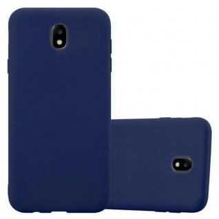 Cadorabo Hülle für Samsung Galaxy J3 2017 EU Version in CANDY DUNKEL BLAU Handyhülle aus flexiblem TPU Silikon Silikonhülle Schutzhülle Ultra Slim Soft Back Cover Case Bumper