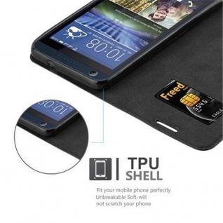Cadorabo Hülle für HTC DESIRE 626G in NACHT SCHWARZ - Handyhülle mit Magnetverschluss, Standfunktion und Kartenfach - Case Cover Schutzhülle Etui Tasche Book Klapp Style - Vorschau 2