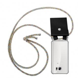 Cadorabo Handy Kette für Samsung Galaxy NOTE 5 in RAINBOW - Silikon Necklace Umhänge Hülle mit Silber Ringen, Kordel Band Schnur und abnehmbarem Etui - Schutzhülle