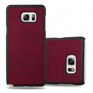 Cadorabo Hülle für Samsung Galaxy NOTE 5 in WOODY ROT - Hardcase Handyhülle aus Plastik gegen Kratzer und Stöße - Schutzhülle Bumper Ultra Slim Back Case Hard Cover