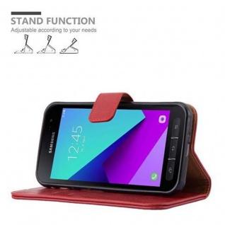 Cadorabo Hülle für Samsung Galaxy Xcover 4 in WEIN ROT ? Handyhülle mit Magnetverschluss, Standfunktion und Kartenfach ? Case Cover Schutzhülle Etui Tasche Book Klapp Style - Vorschau 5