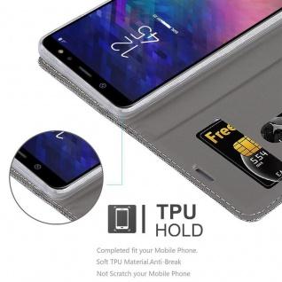 Cadorabo Hülle für Samsung Galaxy J6 2018 in GRAU SCHWARZ - Handyhülle mit Magnetverschluss, Standfunktion und Kartenfach - Case Cover Schutzhülle Etui Tasche Book Klapp Style - Vorschau 2