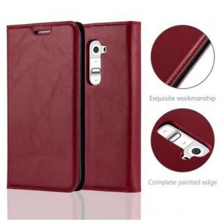 Cadorabo Hülle für LG G2 in APFEL ROT Handyhülle mit Magnetverschluss, Standfunktion und Kartenfach Case Cover Schutzhülle Etui Tasche Book Klapp Style - Vorschau 2