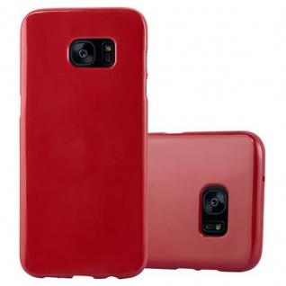 Cadorabo Hülle für Samsung Galaxy S7 EDGE in JELLY ROT ? Handyhülle aus flexiblem TPU Silikon ? Silikonhülle Schutzhülle Ultra Slim Soft Back Cover Case Bumper