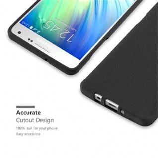 Cadorabo Hülle für Samsung Galaxy A5 2015 in FROST SCHWARZ - Handyhülle aus flexiblem TPU Silikon - Silikonhülle Schutzhülle Ultra Slim Soft Back Cover Case Bumper - Vorschau 2