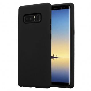 Cadorabo Hülle für Samsung Galaxy NOTE 8 in ONYX SCHWARZ Hybrid Handyhülle mit TPU Silikon Innenseite und 2teiliger Kunststoff Außenseite Schutzhülle Hybrid Hardcase Back Case