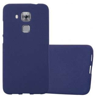 Cadorabo Hülle für Huawei NOVA PLUS in FROST DUNKEL BLAU - Handyhülle aus flexiblem TPU Silikon - Silikonhülle Schutzhülle Ultra Slim Soft Back Cover Case Bumper
