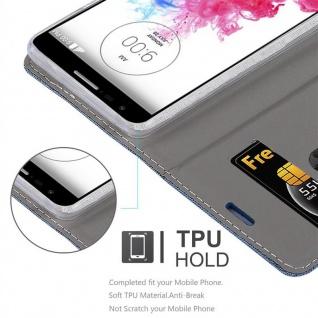 Cadorabo Hülle für LG G3 MINI / G3S in DUNKEL BLAU SCHWARZ - Handyhülle mit Magnetverschluss, Standfunktion und Kartenfach - Case Cover Schutzhülle Etui Tasche Book Klapp Style - Vorschau 2