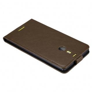 Cadorabo Hülle für Nokia Lumia 1520 in KAFFEE BRAUN - Handyhülle im Flip Design mit unsichtbarem Magnetverschluss - Case Cover Schutzhülle Etui Tasche Book Klapp Style - Vorschau 3