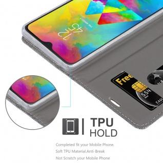 Cadorabo Hülle für Samsung Galaxy M20 in HELL GRAU BRAUN - Handyhülle mit Magnetverschluss, Standfunktion und Kartenfach - Case Cover Schutzhülle Etui Tasche Book Klapp Style