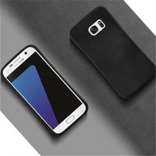 Cadorabo Hülle für Samsung Galaxy S7 - Hülle in MINERAL SCHWARZ ? Small Waist Handyhülle mit rutschfestem Gummi-Rücken - Hard Case TPU Silikon Schutzhülle - Vorschau 4