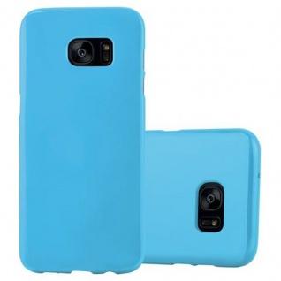 Cadorabo Hülle für Samsung Galaxy S7 EDGE in JELLY HELL BLAU - Handyhülle aus flexiblem TPU Silikon - Silikonhülle Schutzhülle Ultra Slim Soft Back Cover Case Bumper