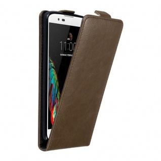 Cadorabo Hülle für LG K10 2016 in KAFFEE BRAUN Handyhülle im Flip Design mit unsichtbarem Magnetverschluss Case Cover Schutzhülle Etui Tasche Book Klapp Style