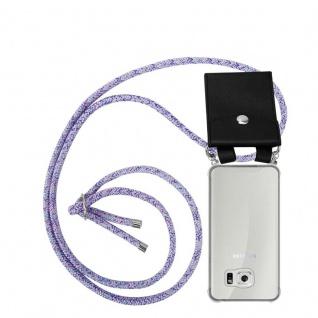 Cadorabo Handy Kette für Samsung Galaxy S6 in UNICORN - Silikon Necklace Umhänge Hülle mit Silber Ringen, Kordel Band Schnur und abnehmbarem Etui - Schutzhülle