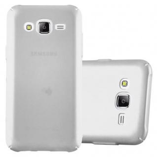 Cadorabo Hülle für Samsung Galaxy J5 2015 in METALL SILBER Hardcase Handyhülle aus Plastik gegen Kratzer und Stöße Schutzhülle Bumper Ultra Slim Back Case Hard Cover