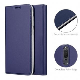 Cadorabo Hülle für Huawei MATE 10 LITE in CLASSY DUNKEL BLAU - Handyhülle mit Magnetverschluss, Standfunktion und Kartenfach - Case Cover Schutzhülle Etui Tasche Book Klapp Style - Vorschau 4