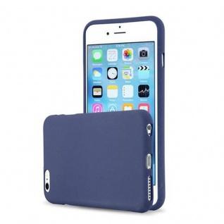 Cadorabo Hülle für Apple iPhone 6 PLUS / iPhone 6S PLUS - Hülle in FROST DUNKEL BLAU ? Handyhülle aus TPU Silikon im matten Frosted Design - Ultra Slim Soft Backcover Case Bumper