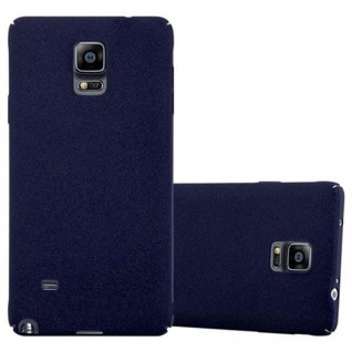 Cadorabo Hülle für Samsung Galaxy NOTE 4 in FROSTY BLAU - Hardcase Handyhülle aus Plastik gegen Kratzer und Stöße - Schutzhülle Bumper Ultra Slim Back Case Hard Cover