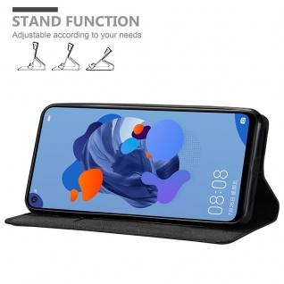 Cadorabo Hülle für Huawei MATE 30 LITE in NACHT SCHWARZ - Handyhülle mit Magnetverschluss, Standfunktion und Kartenfach - Case Cover Schutzhülle Etui Tasche Book Klapp Style - Vorschau 2