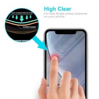 Cadorabo Panzer Folie für Apple iPhone XR - Schutzfolie in KRISTALL KLAR - Gehärtetes (Tempered) Display-Schutzglas in 9H Härte mit 3D Touch Kompatibilität - Vorschau 5