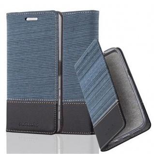 Cadorabo Hülle für Sony Xperia X in DUNKEL BLAU SCHWARZ - Handyhülle mit Magnetverschluss, Standfunktion und Kartenfach - Case Cover Schutzhülle Etui Tasche Book Klapp Style