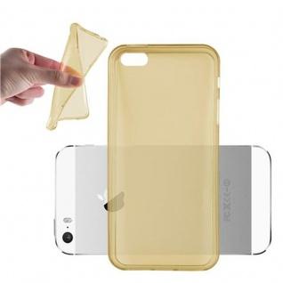 Cadorabo Hülle für Apple iPhone 5 / iPhone 5S / iPhone SE - Hülle in TRANSPARENT GOLD ? Handyhülle aus TPU Silikon im Ultra Slim 'AIR' Design - Ultra Slim Soft Backcover Case Bumper