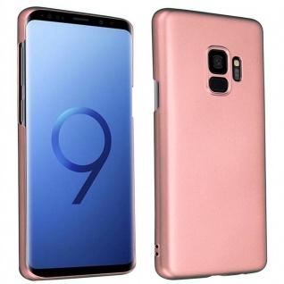 Cadorabo Hülle für Samsung Galaxy S9 in METALL ROSÉ GOLD ? Hardcase Handyhülle aus Plastik gegen Kratzer und Stöße ? Schutzhülle Bumper Ultra Slim Back Case Hard Cover