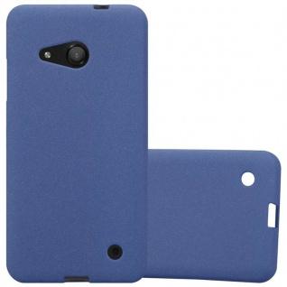 Cadorabo Hülle für Nokia Lumia 550 in FROST DUNKEL BLAU - Handyhülle aus flexiblem TPU Silikon - Silikonhülle Schutzhülle Ultra Slim Soft Back Cover Case Bumper
