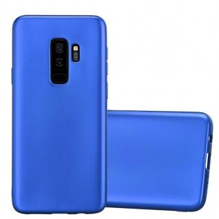 Cadorabo Hülle für Samsung Galaxy S9 PLUS in METALLIC BLAU - Handyhülle aus flexiblem TPU Silikon - Silikonhülle Schutzhülle Ultra Slim Soft Back Cover Case Bumper
