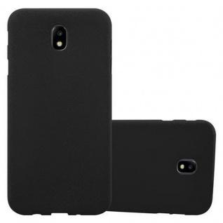 Cadorabo Hülle für Samsung Galaxy J3 2017 in FROST SCHWARZ - Handyhülle aus flexiblem TPU Silikon - Silikonhülle Schutzhülle Ultra Slim Soft Back Cover Case Bumper