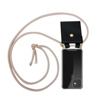 Cadorabo Handy Kette für Apple iPhone 11 PRO (XI PRO) in PERLIG ROSÉGOLD - Silikon Necklace Umhänge Hülle mit Gold Ringen, Kordel Band Schnur und abnehmbarem Etui - Schutzhülle