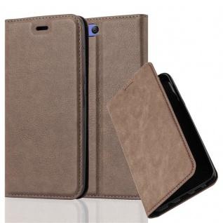 Cadorabo Hülle für Xiaomi Mi 6 in KAFFEE BRAUN - Handyhülle mit Magnetverschluss, Standfunktion und Kartenfach - Case Cover Schutzhülle Etui Tasche Book Klapp Style