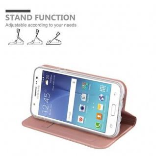 Cadorabo Hülle für Samsung Galaxy J5 2015 in CLASSY ROSÉ GOLD - Handyhülle mit Magnetverschluss, Standfunktion und Kartenfach - Case Cover Schutzhülle Etui Tasche Book Klapp Style - Vorschau 4