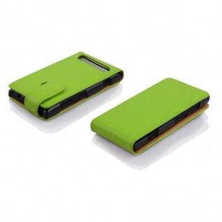 Cadorabo Hülle für Sony Xperia E1 in APFEL GRÜN - Handyhülle im Flip Design aus strukturiertem Kunstleder - Case Cover Schutzhülle Etui Tasche Book Klapp Style - Vorschau 3