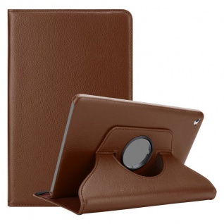 Cadorabo Tablet Hülle für Apple iPad 2 / iPad 3 / iPad 4 in PILZ BRAUN Book Style Schutzhülle mit Auto Wake Up mit Standfunktion und Gummiband Verschluss